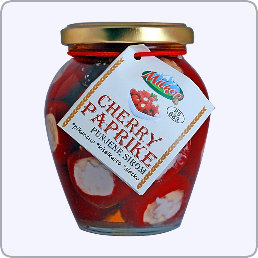 Cherry paprike punjene sirom - Milkop Raska